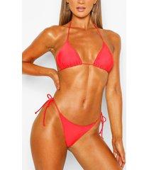 triangle bikini top, red