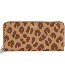 margaux leopard-print leather wallet