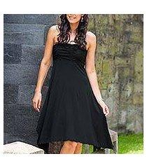 jersey knit dress, 'black java chic' (indonesia)
