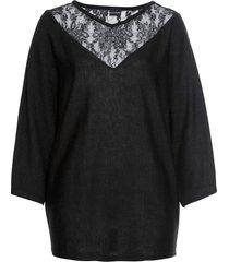 maglione con pizzo (nero) - bodyflirt