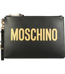 moschino pouch with maxi logo