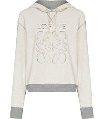 anagram hoodie, grey melange