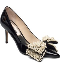 aljo pearl shoes heels pumps classic svart custommade