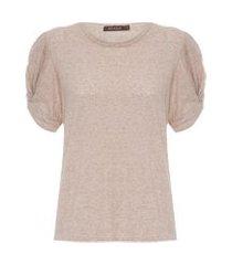 camiseta feminina pipa - bege