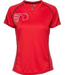 core coolskin tee t-shirts & tops short-sleeved röd newline