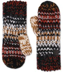 frye and co. women's chunky knit mittens