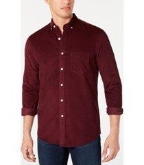 club room men's corduroy shirt, created for macy's