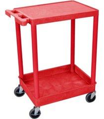 "clickhere2shop 36"" top flat and bottom tub shelves utility cart"