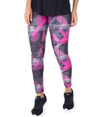 calça legging colcci estampada - feminina - preto/rosa