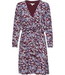 barbara dress ls knälång klänning multi/mönstrad tommy hilfiger