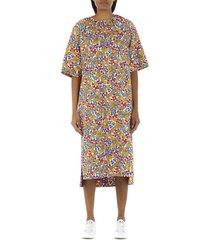 egg-shaped dress in pop garden print cotton