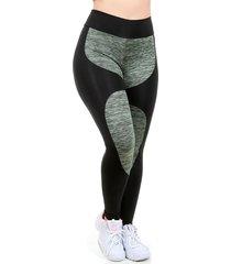 calça legging galvic detalhe risca e suplex liso verde
