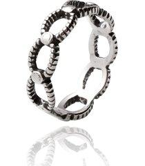 anel de prata sal do mar elo vazado