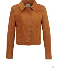 new brown women suede leather jacket slim fit biker motorcycle all size