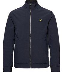 funnel neck softshell jacket tunn jacka blå lyle & scott