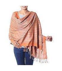 silk shawl, 'bihar ginger' (india)