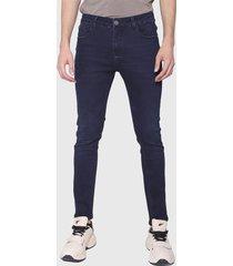 jeans ellus skinny tiro bajo repreve azul - calce skinny