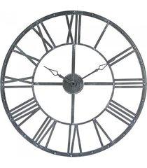 zegar metalowy vintage 70 cm szary