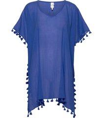 amnesia kaftan beach wear blå seafolly