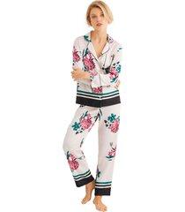 pijama camisera de satén multicolor women secret 254751197