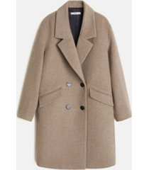 mango lapels structured coat
