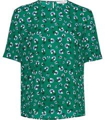 amabel ss aop 6891 blouses short-sleeved groen samsøe samsøe