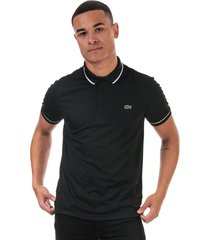 mens tennis piped technical polo shirt