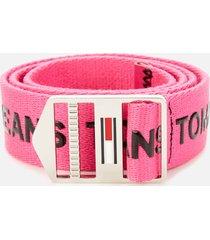 tommy jeans women's explorer belt 3.5 - pink glo - 85cm