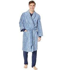 hom heren badjas stripes - blauw/geel/grijs