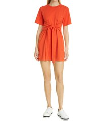 alice + olivia evie tie waist dress, size large in sienna at nordstrom