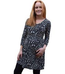 vestido maternal y lactancia aurelia negro madremía