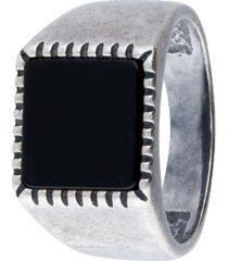 anello modello chevalier in acciaio per uomo