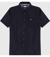 camisa azul navy lacoste