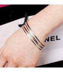 bracciale moda braccialetto singolo argento satinato polsino bracciale accessorio gioielli casual per le donne
