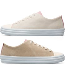 camper twins, sneaker donna, rosa/beige, misura 41 (eu), k200980-002