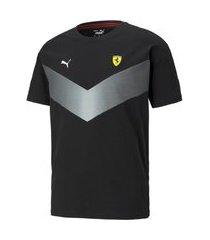 camiseta puma ferrari race mcs masculino - preto