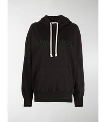jw anderson embroidered-logo drawstring hoodie