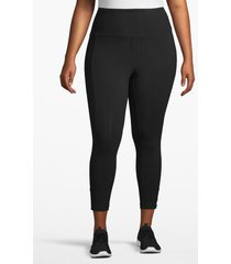 lane bryant women's active capri legging - twisted hem 22/24 black