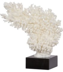 "11.5"" coral decor on marble base"