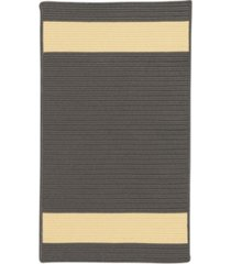 colonial mills aurora grey yellow 2' x 4' accent rug bedding