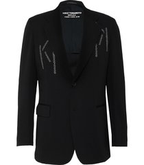 replica' embroidered wool blazer
