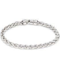 effy men's sterling silver chain-link bracelet