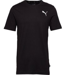 ess small logo tee t-shirts short-sleeved svart puma