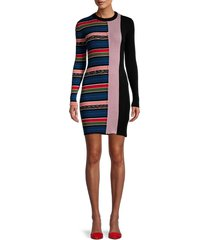 m missoni women's striped ribbed mini dress - black - size 38 (2)