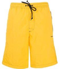 carhartt wip kastor beach shorts - yellow