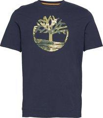 ss ft tree tee t-shirts short-sleeved blå timberland
