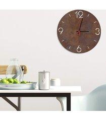 relógio de parede decorativo premium números vazados corten médio
