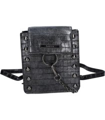 mochila sevilla negro metalizado zappa