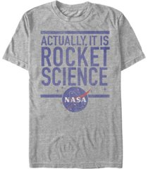 nasa men's actually it is rocket science short sleeve t-shirt