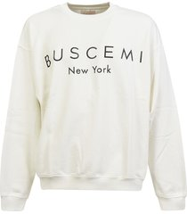 buscemi over fit logo sweatshirt